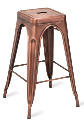Tolix V2 High Stool - Vintage Copper