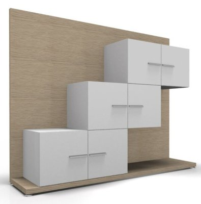 CO2 Combination Storage 17 Oak White