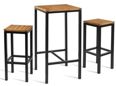 outdoor bar height table and chairs