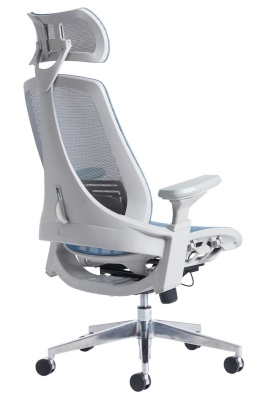 Lavana Blue Mesh Task Chair Rear Angle