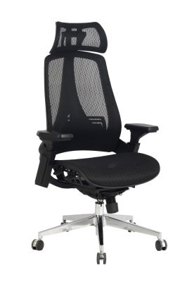 Lavana Black Mesh Task Chair Front Shot
