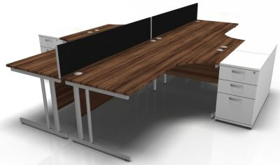 Revolution 4 Person 1800 With 90 Deg Return + Ped Walnut