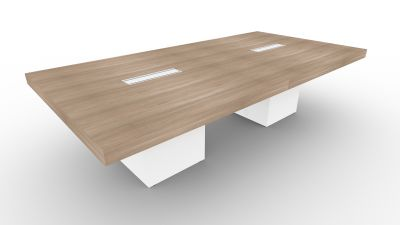 Cool Tj 2800Mm Boardroom Table Column Legs Home Remodeling Inspirations Genioncuboardxyz