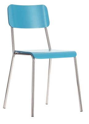 Koloer Bistro Chairs With A Blue Seat And Back