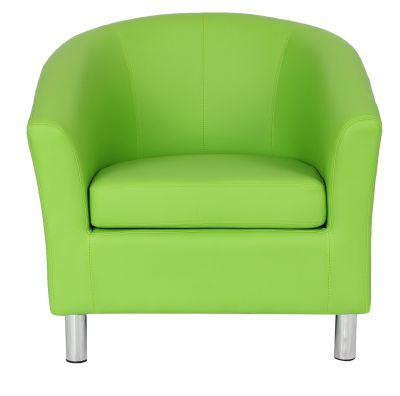 Charmant Tritium Tub Chair In Lime Green Face View