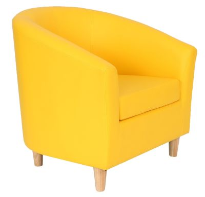 Tritium Tub Chairs In Yellow Front Angle