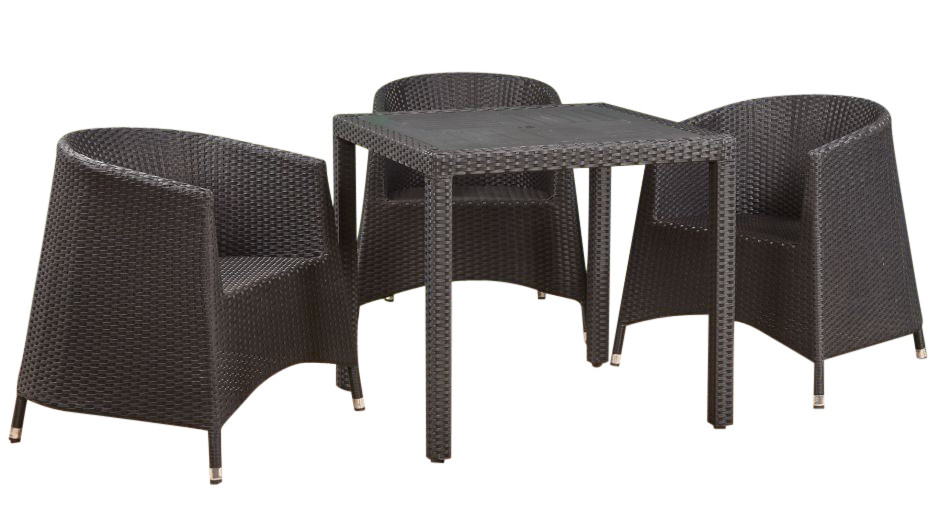 An image of Susie Tub Chair Weave Dining Set - 2