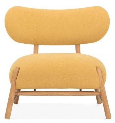 Moxy Chair In A Mustard Fabric Front View