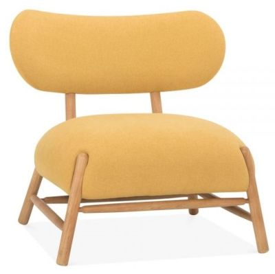 Moxy Chair In A Mustard Fabric Angle View