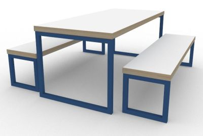 Toby Bench Dining Set Blue