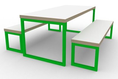 Toby Bench Dining Set Green