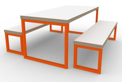 Toby Bench Dining Set Orange