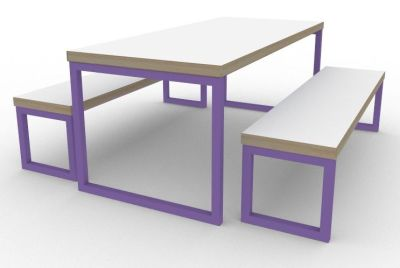 Toby Bench Dining Set Violet