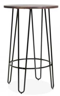 Hairpin Round Bar Table Black
