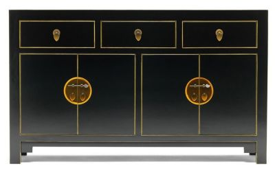 The Nine Schools Sideboard Black And Gilt 3