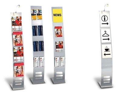 Arto Narrow Brochure Displays