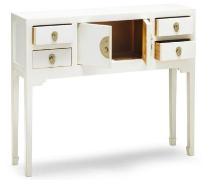 The Nine Schools White Console Table 2