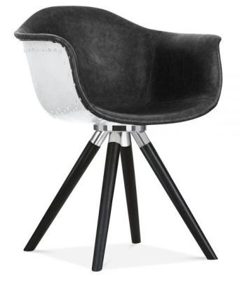 Surprising Juno Aviator B Designer Chair Black Leather Black Inzonedesignstudio Interior Chair Design Inzonedesignstudiocom