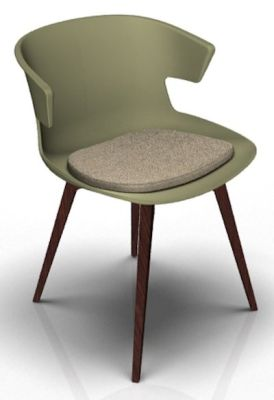 Theo Bean Green Wenge Seat Pad Dove Grey
