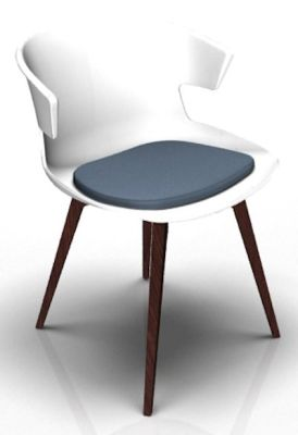 Theo Bean White Wenge Seat Pad Blue