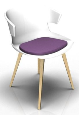 Theo Bean White Wenge Seat Pad Violet
