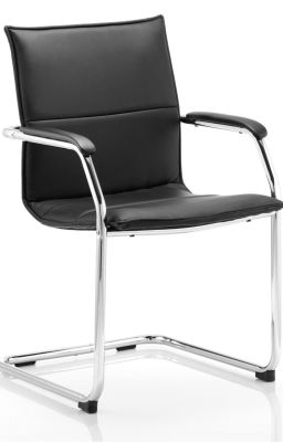 Denton Conference Chair Black Leather