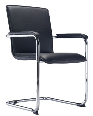 Superbe Denton Black Leather Conference Chair