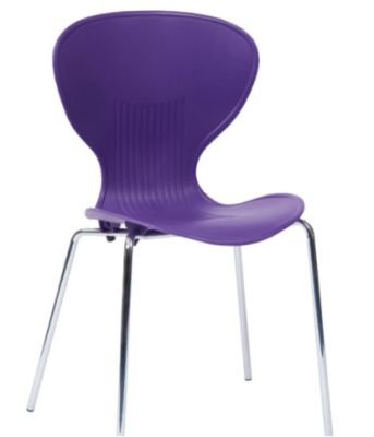 Piazza Poly Chair In Ppurple
