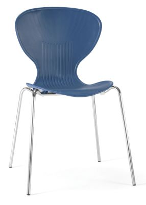 Piazza Poly Chair In Blue From Teh Front