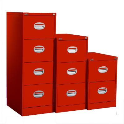 Kontrax Filing Cabinet In Red