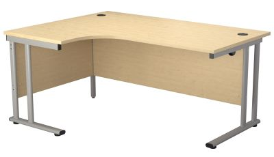 Flite Left Hand Corner Desk In Maple