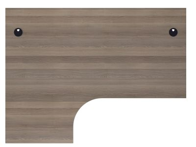 Flite Left Hand Corner Desk In Grey Oak Top View