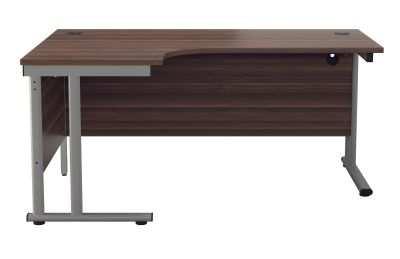 Flite Corner Desk In Dark Walnut Side View