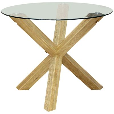 Melbec Round Gl Designer Table