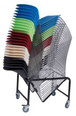Model Chairs Stacked On Trolley  sc 1 st  Online Reality & 30 x High Density Stacking Chair - Model Bundle Deal - Online Reality