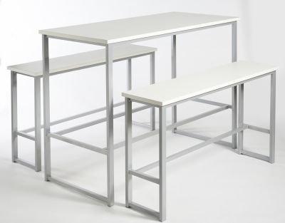 Apollo Bar Height Bench Set