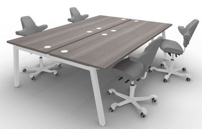 Alumina Four Person Bench Desk