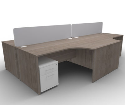 Avalon AVB32 4 Way Corner Panel Desk, Mobile Pedestals, Anthracite Finish, Free Delivery And Installation