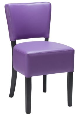 Dijon Dining Chair In Purple Faux Leather With A Wenge Frame