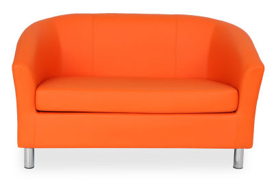 Tritium NEXT DAY Coloured Faux Leather Sofas - Chrome Feet