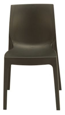 Presto Contemporary Poly Chairs Black Front View