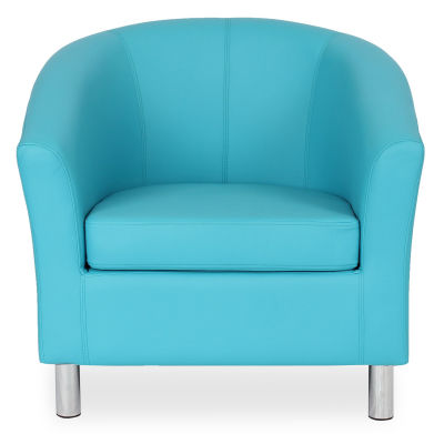 Tritium Tub Chair In Light Blue Face View