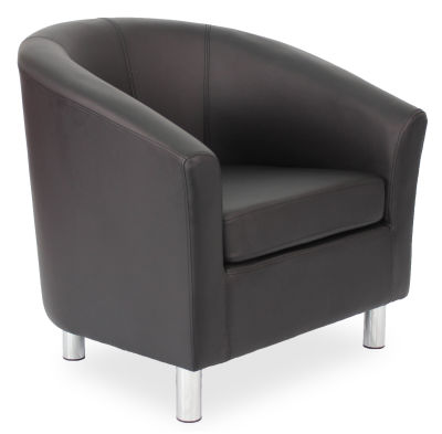 Tritium Tub Chair In Black 45 Side View