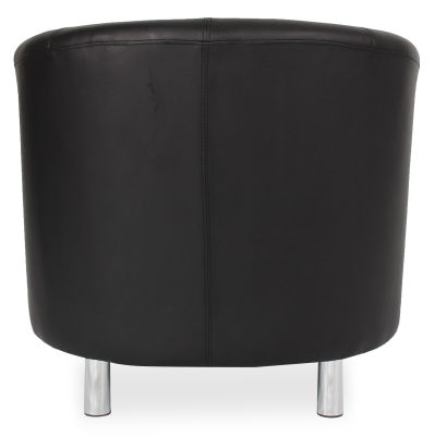 Tritium Tub Chair In Black Back View