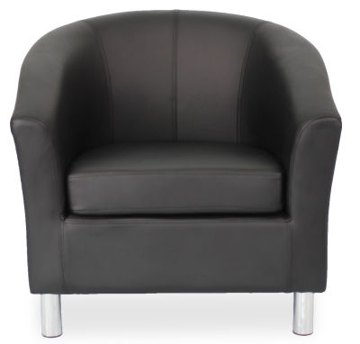 Tritium Tub Chair In Black Face View