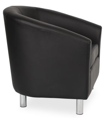 Tritium Tub Chair In Black Side View