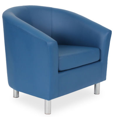 Tritium Tub Chair In Blue 45 Side View