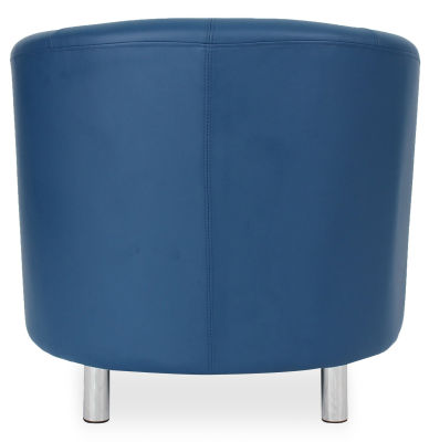 Tritium Tub Chair In Blue Back View