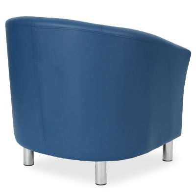 Tritium Tub Chair In Blue Side Back View