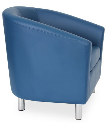 Tritium Tub Chair In Blue Side View